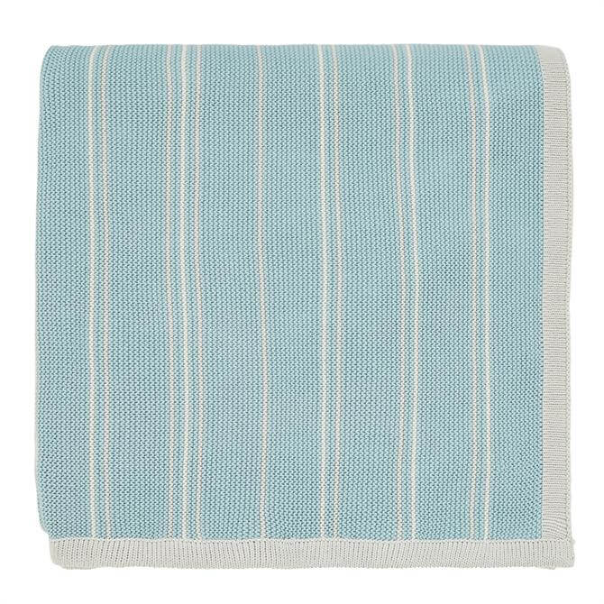 Sanderson Home Teal Pippin Knitted Throw